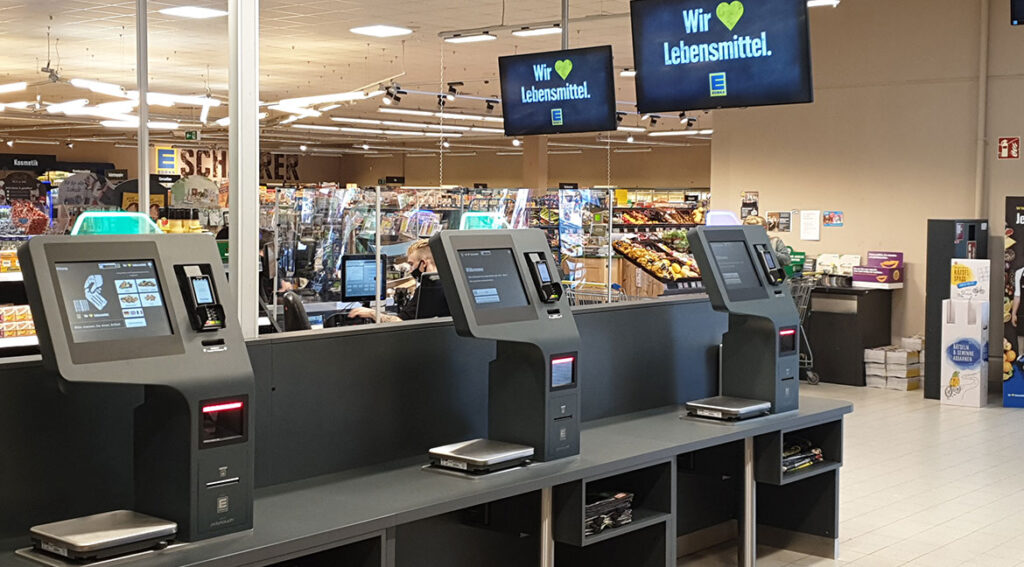 EDEKA has recognized the advantages of permanent self-checkout solutions and is once again relying on technology from Pyramid Computer.